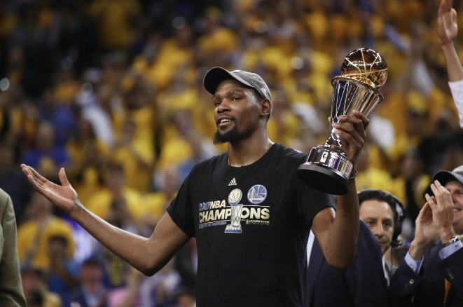 Durant wins MVP Award 2018 with the Golden State Warriors