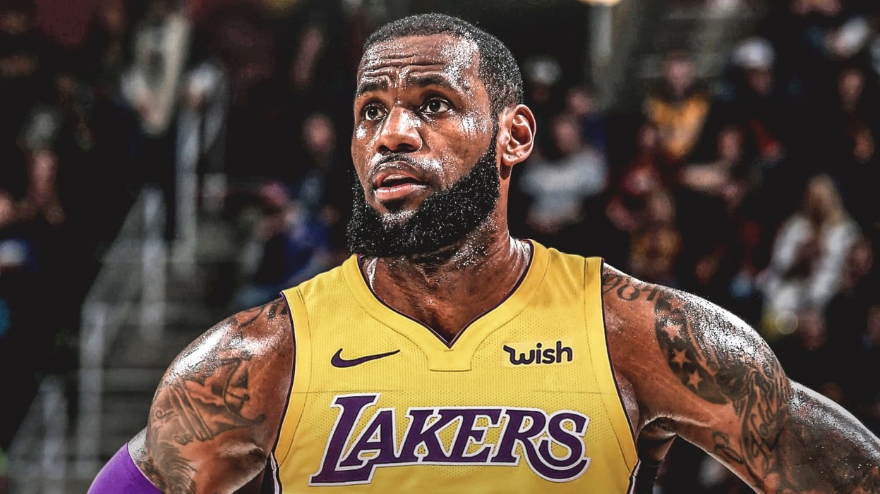 27bf760c007b ... Childhood And Personal Life. LeBron James playing for Los Angeles Lakers