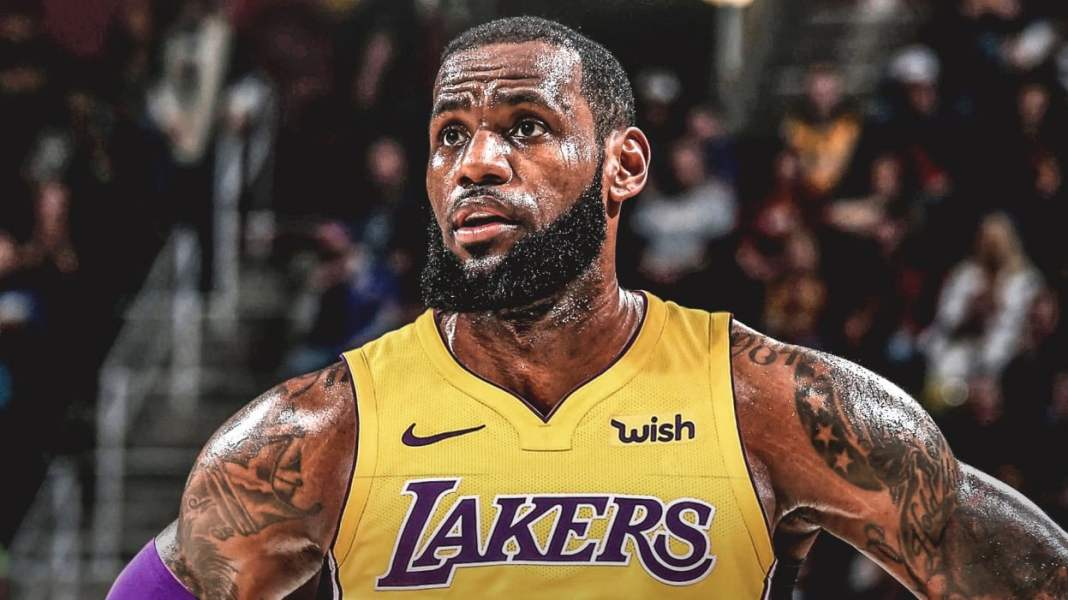 LeBron James playing for Los Angeles Lakers