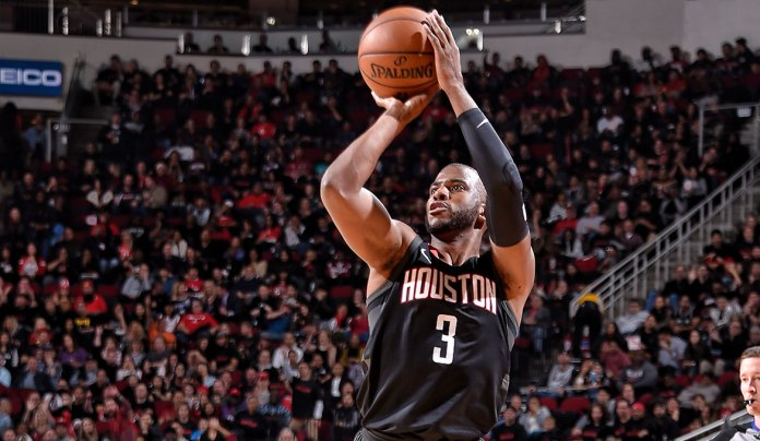 Chris Paul graces the court with the Houston Rockets