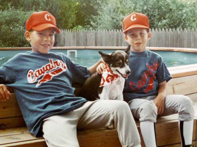 On the right is Blake Griffin in baseball jersey