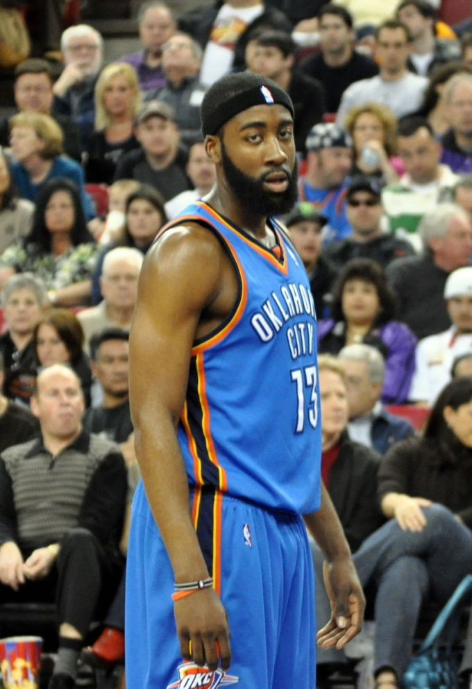 James Harden with Oklahoma City in 2010