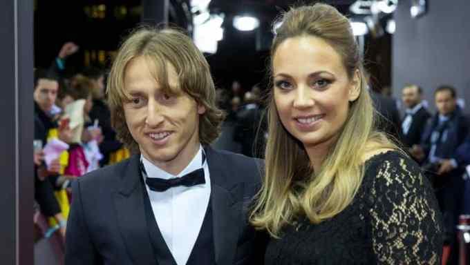 Photo of Luka Modric with his wife