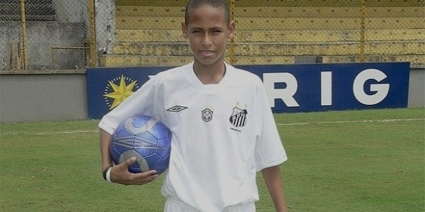 Neymar Playing for Santos FC Youth Academy