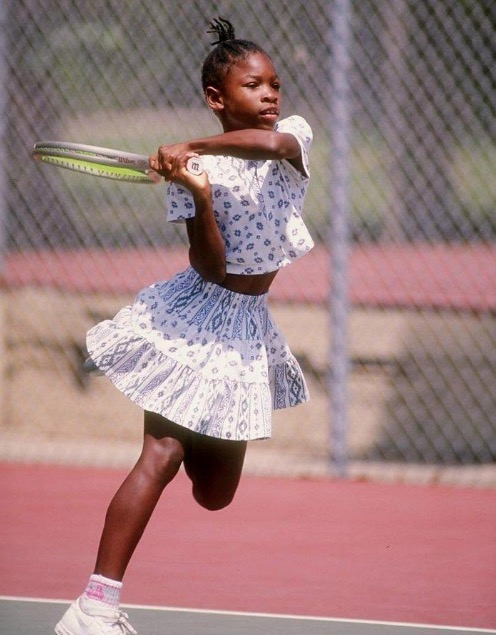 Serena Williams childhood photo