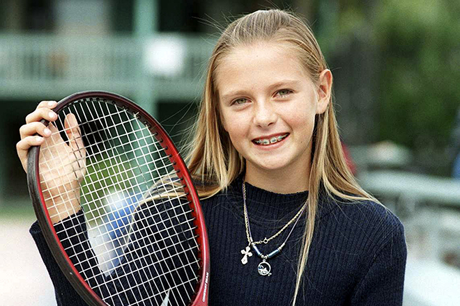 Photo of Maria Sharapova during her early life