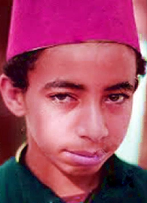 Childhood photo of Mohamed Salah