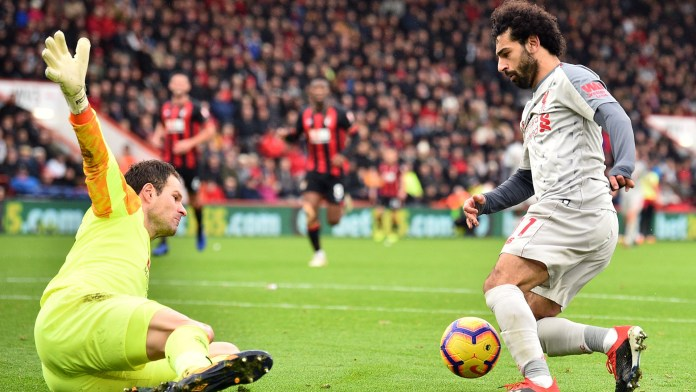 Mohamed Salah scores a hat-trick for Liverpool