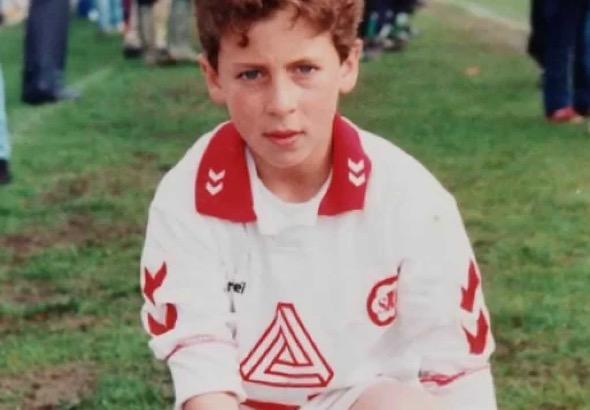 Eden Hazard's Early Childhood Photo