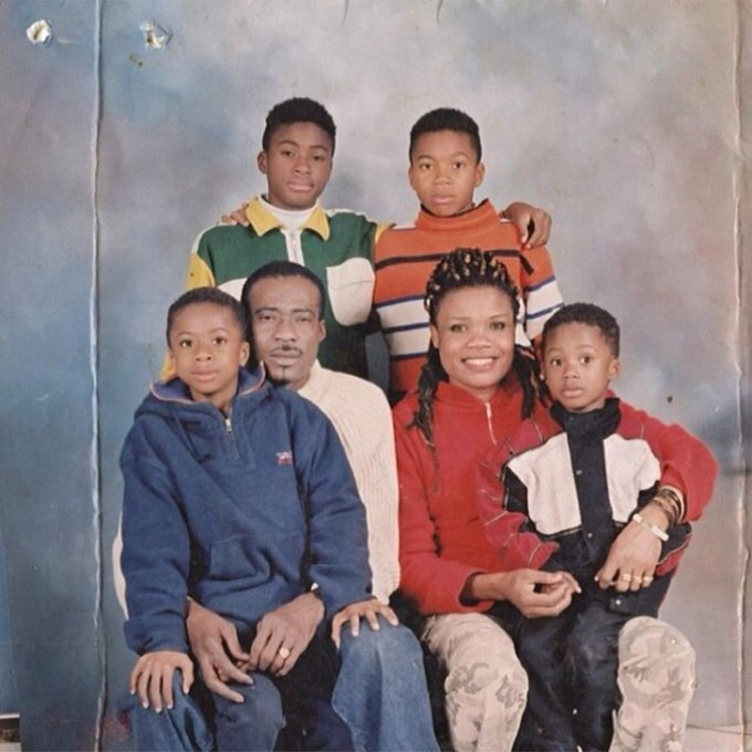 Giannis Antetokounmpo Childhood photo with his family