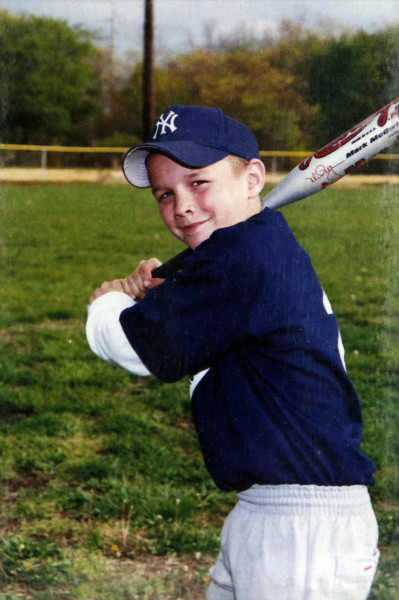 Childhood photo of Mike Trout
