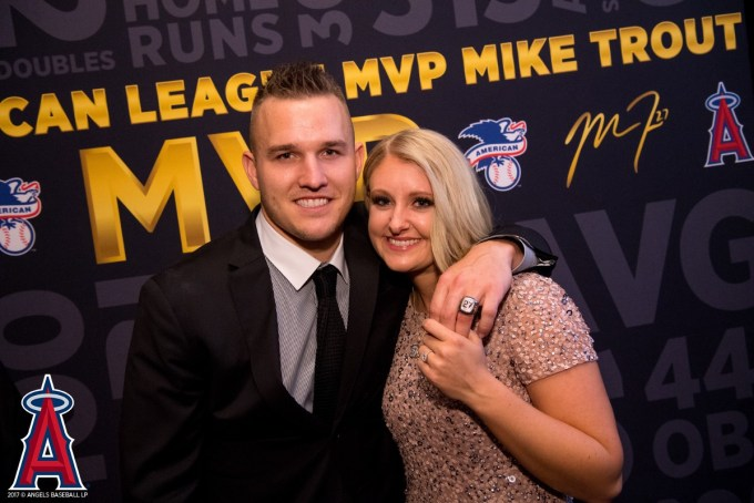 Mike Trout and his wife Jessica Tara Trout