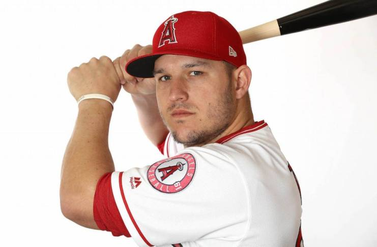 Mike Trout of Los Angeles Angels in 2019