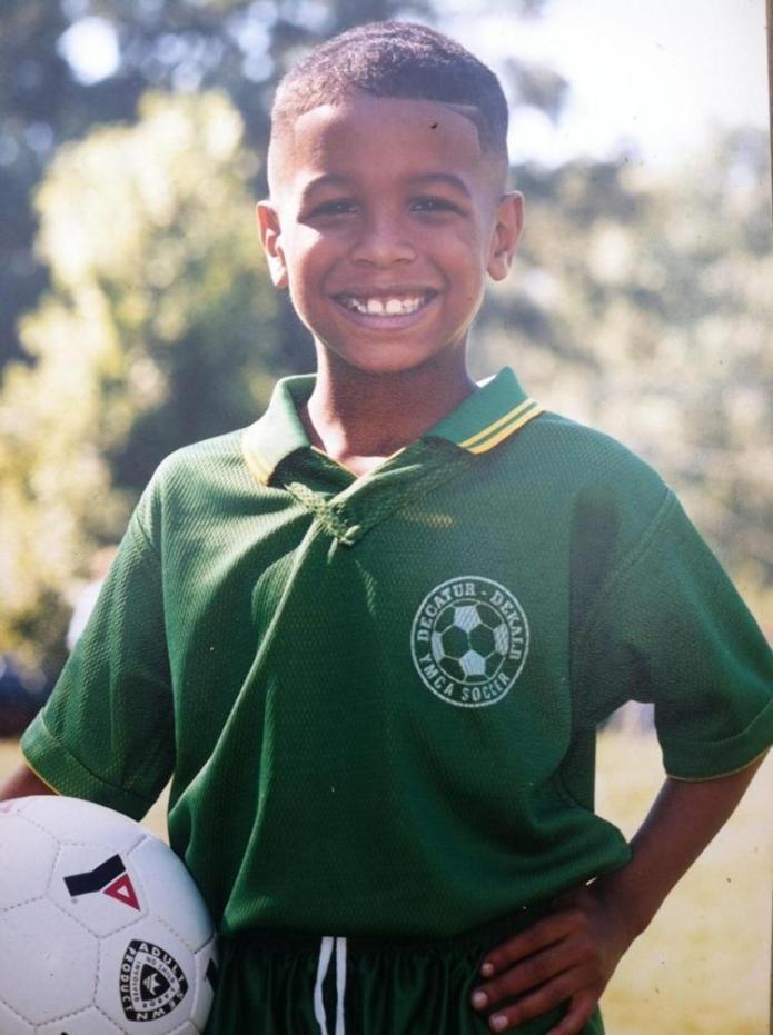 Odell Beckham Jr as a soccer kid