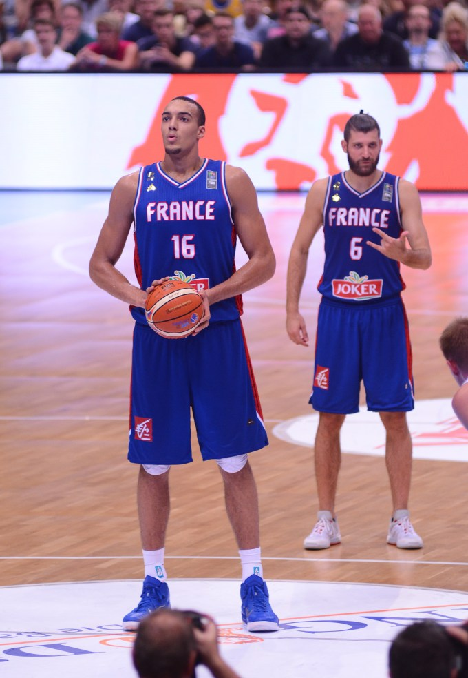 Rudy Gobert of France in 2015