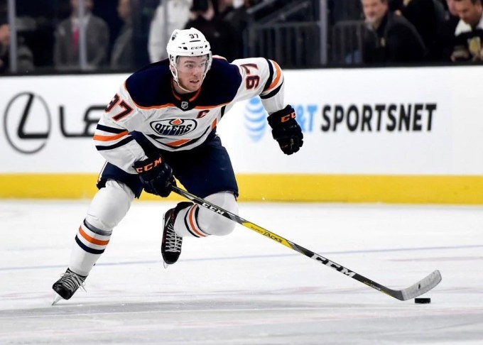 Connor McDavid of the Edmonton Oilers in 2018