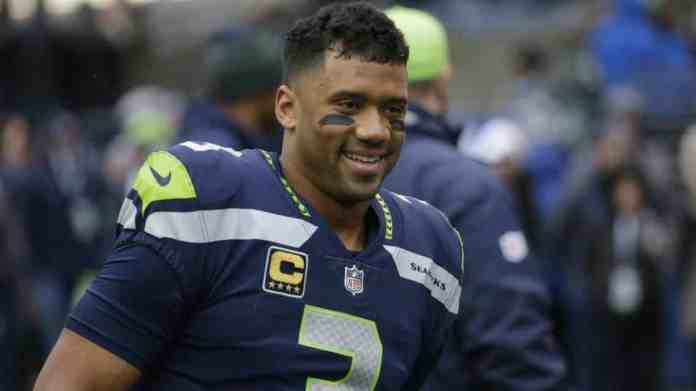 Photo of Russell Wilson in 2019