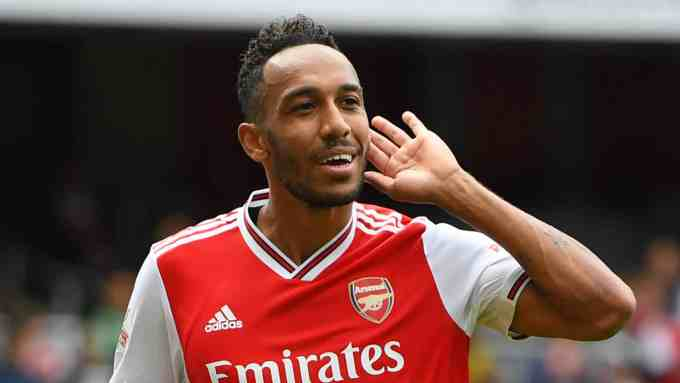 Photo of Pierre-Emerick Aubameyang playing for Arsenal F.C.