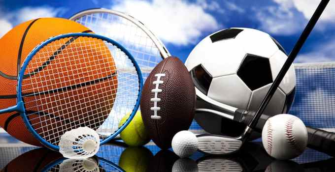 Picture shows different sporting equipments