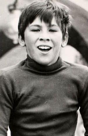 Childhood photo of Carlo Ancelotti