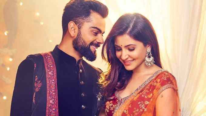 Virat Kohli with his wife Anushka Sharma