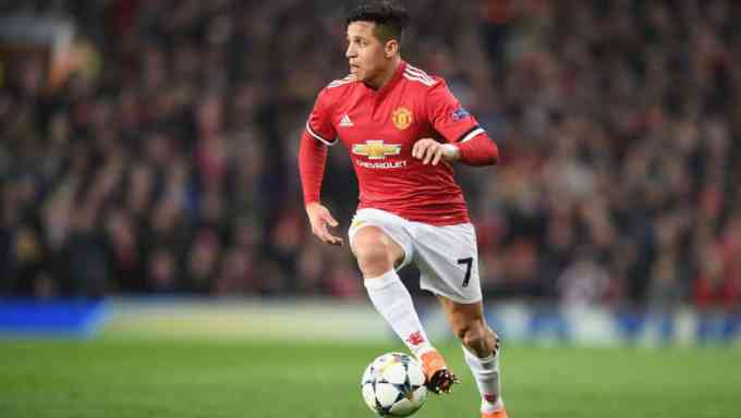 Alexis Sanchez with Manchester United
