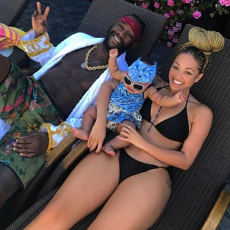 Deontay Wilder with Telli Swift and their daughter