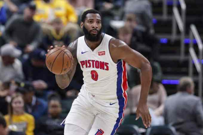 Andre Drummond with the Detroit Pistons