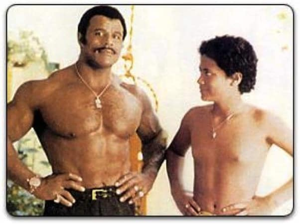 Childhood Photo Of Dwayne Johnson With His Father Rocky Johnson
