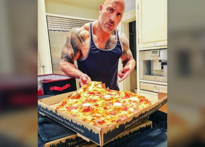 Dwayne 'The Rock' Johnson extra large pizza
