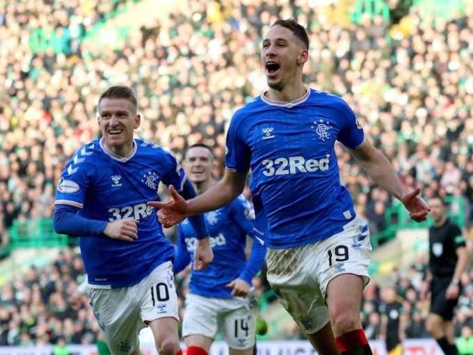 Rangers' Nikola Katic celebrates