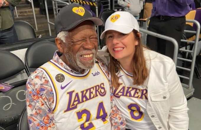 Bill Russell with his wife Jeannine Russell