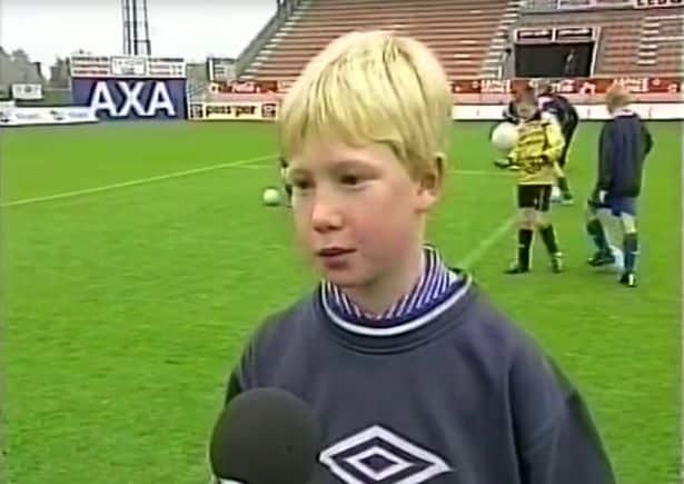 Childhood photo of Kevin De Bruyne