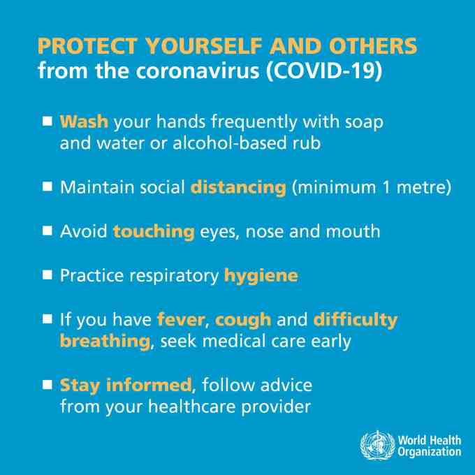 Coronavirus in Sports - Protect yourself and others