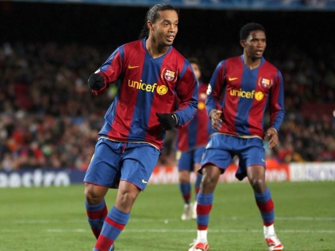 Ronaldinho and Samuel Eto'o
