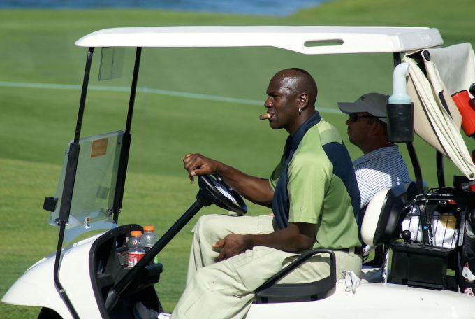 Michael Jordan on a Golf Course