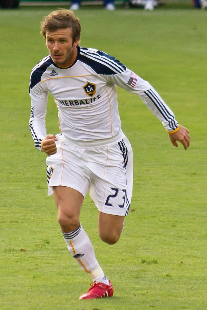 David Beckham with LA Galaxy in 2010