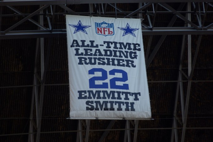 Nfl Record – Emmitt Smith All-Time Leading Rusher Banner