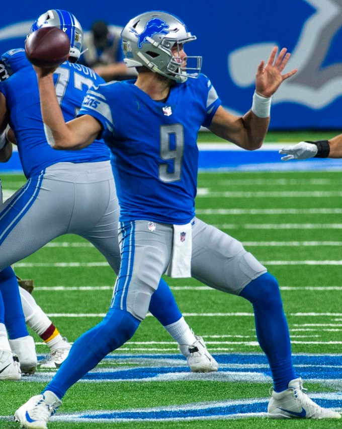 Matthew Stafford With The Lions In 2020