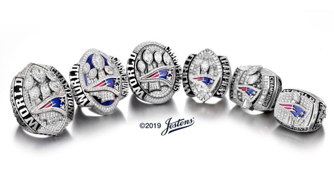 New England Patriots Super Bowl Rings
