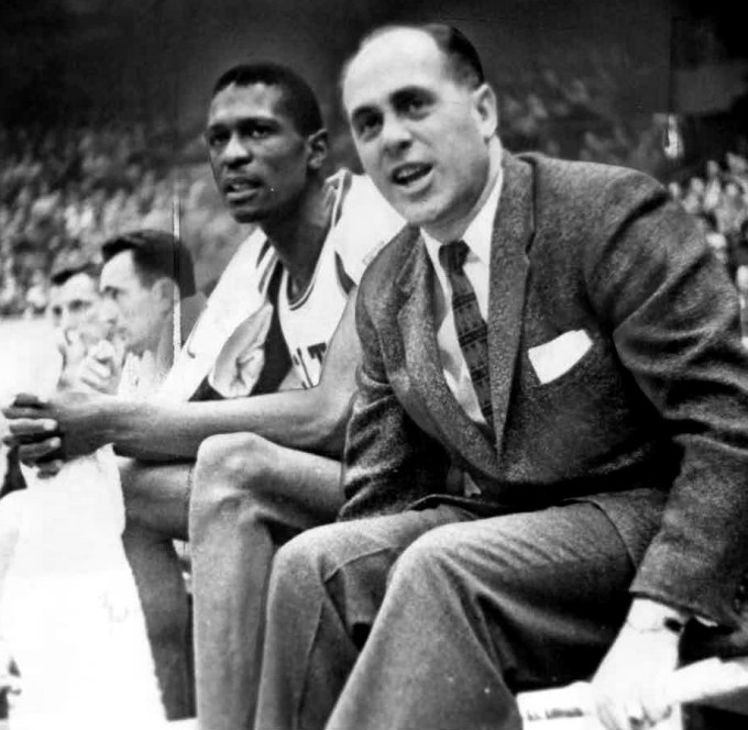 Bill Russell and Red Auerbach in 1956 — Most Successful NBA Coaches