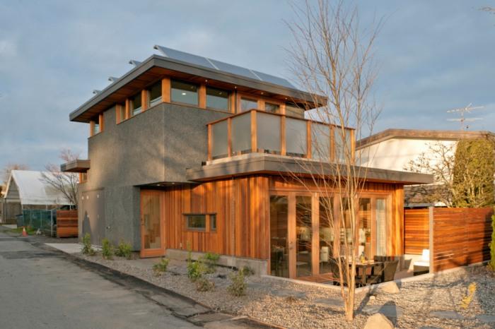 O casă de 70 mp cu consum net de energie egal cu zero