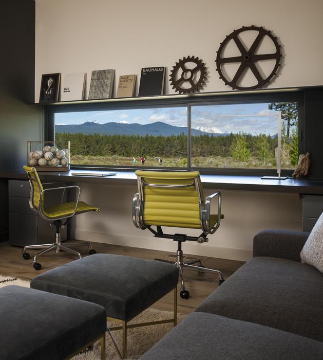 casa pe un singur nivel interior birou