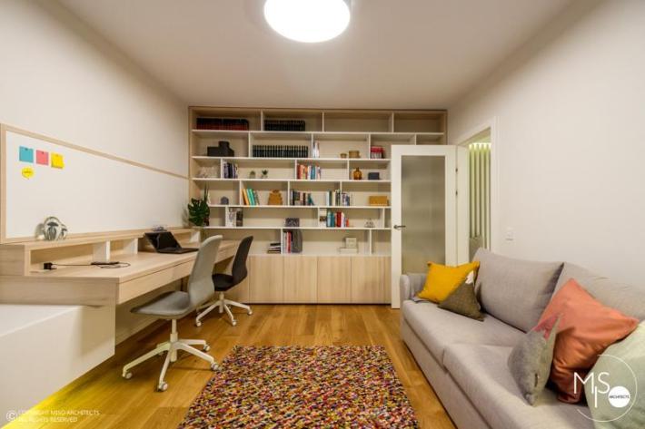 Miso Architects amenajare moderna apartament Bucuresti birou 1