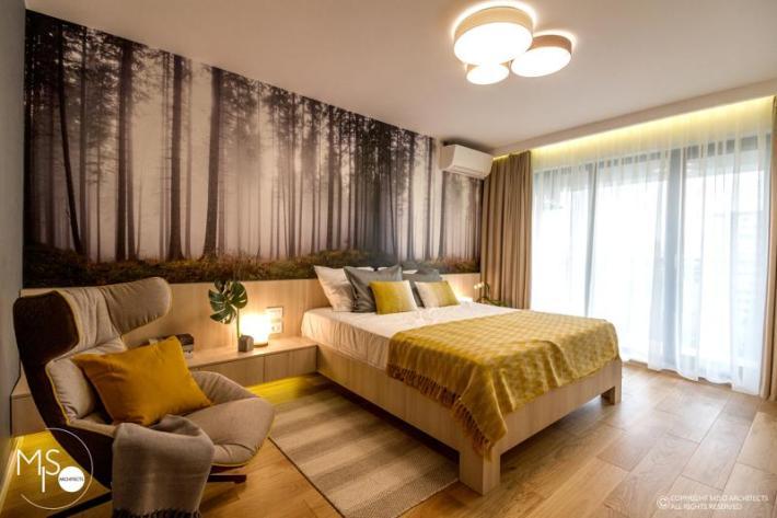 Miso Architects amenajare moderna apartament Bucuresti dormitor 1