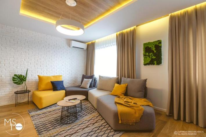 Miso Architects amenajare moderna apartament Bucuresti living7