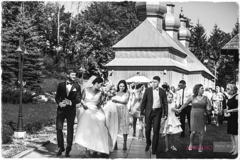 Kr????lewski ślub pe?????en z?????ota i i zieleni. Ślub w Zamku w Dubiecku.