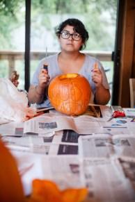 Alyssa, ready to carve.