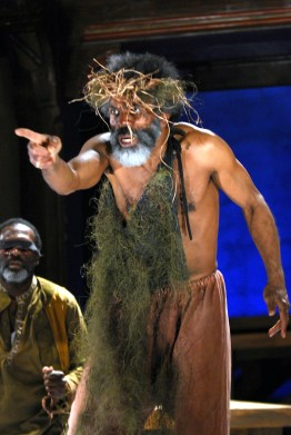 Edgar and Gloucester from the 2007 Folger Theatre and Classical Theatre of Harlem production of King Lear.
