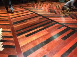 The floor of the R&G set during load-in